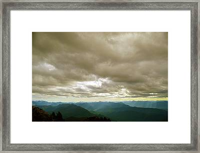 Dark Mountains Too Framed Print
