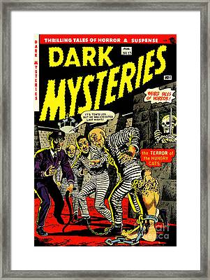 Dark Mysteries 13 Comiv Cover Restored Framed Print