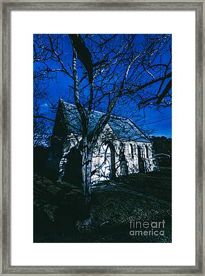 Dark Mysterious Church Framed Print by Jorgo Photography - Wall Art Gallery