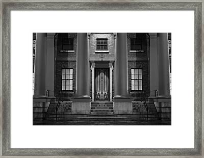 Dark Mysterious House In Monochrome Framed Print by Ken Biggs