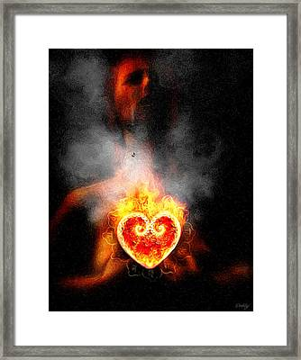 Framed Print featuring the painting Dark Night Of The Soul by Robby Donaghey