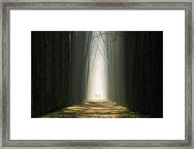Dark Nights, Bright Days Framed Print by Martin Podt