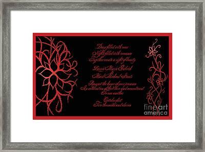 Dark Nights Bright Days Wedding Invitaion Framed Print by Jamie Lynn