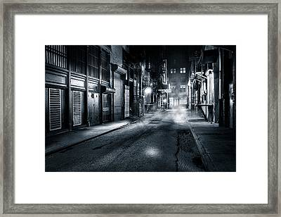 Dark Nyc Framed Print