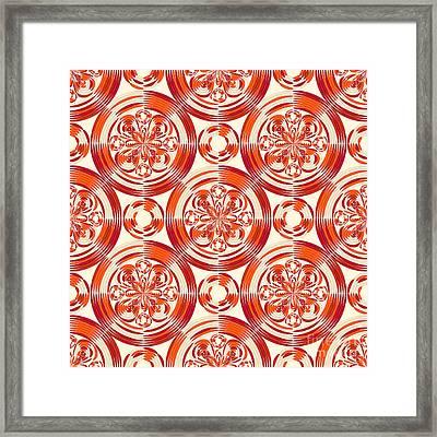 Dark Orange Pattern Framed Print