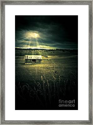 Dark Outback Landscape Framed Print by Jorgo Photography - Wall Art Gallery