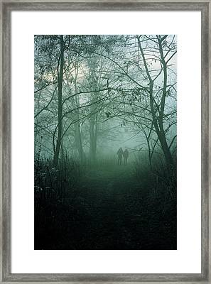 Dark Paths Framed Print