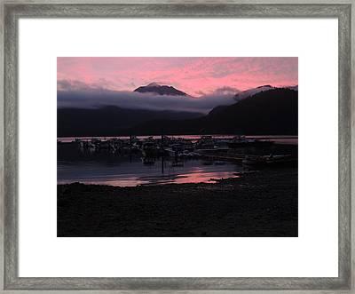 Dark Pink Sunset Framed Print