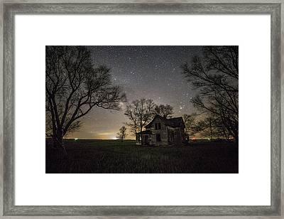 Dark Places On The Prairie  Framed Print