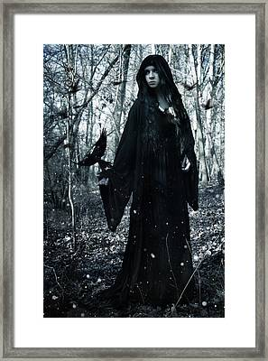 Dark Priestess Framed Print by Cambion Art