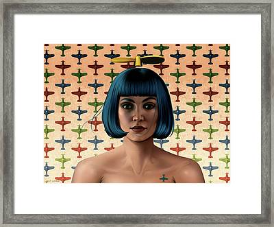 Dark Propeller Gal Framed Print