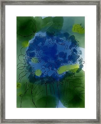 Dark Purple Hydrangea Framed Print