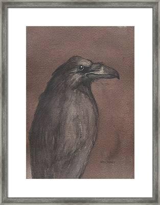 Dark Raven Framed Print