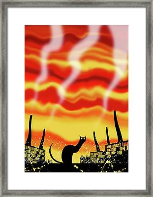Dark Satanic Mills  Framed Print by Andrew Hitchen