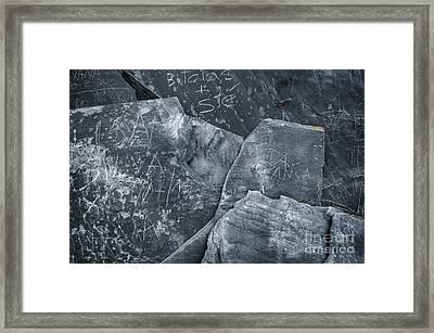 Dark Schist Blades Framed Print by Carlos Caetano