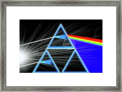 Framed Print featuring the digital art Dark Side Of The Moon by Dan Sproul
