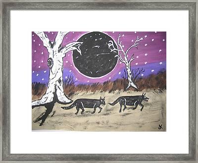 Dark Side Of The Moon Framed Print by Jeffrey Koss
