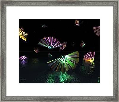 Dark Side Of The Moon Framed Print by Julie King