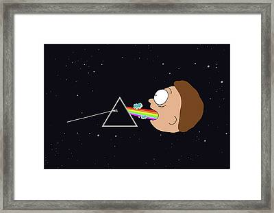 Dark Side Of The Morty Framed Print