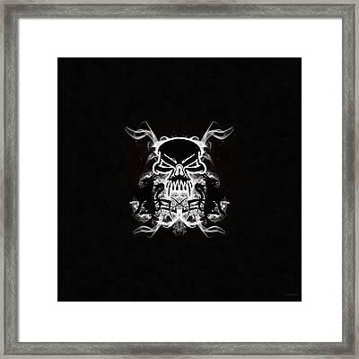 Dark Side Thunderstorm Framed Print by Derek Gedney