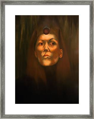 Dark Sister Of The Black Sun Cult Framed Print