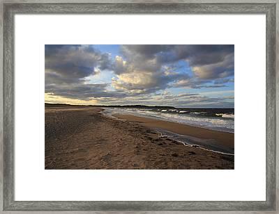 Dark Skies And Sea - Nova Scotia Seascape Framed Print