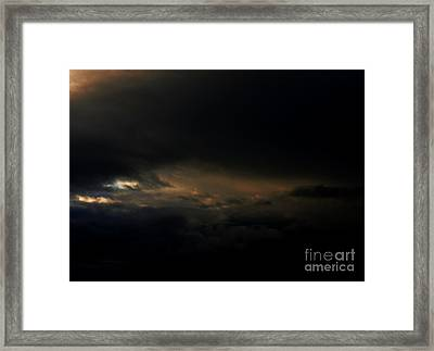 Framed Print featuring the photograph Dark Sky by Erica Hanel