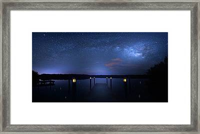 Dark Sky Island Framed Print by Mark Andrew Thomas