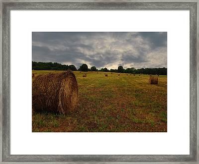 Dark Skys Above Framed Print by Ginger Wemett