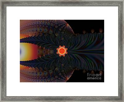 Dark Space Fractal  Framed Print