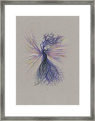 Framed Print featuring the drawing Dark Streak Strut.. by Dawn Fairies