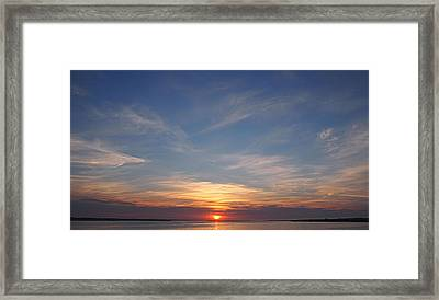 Framed Print featuring the photograph Dark Sunrise by  Newwwman