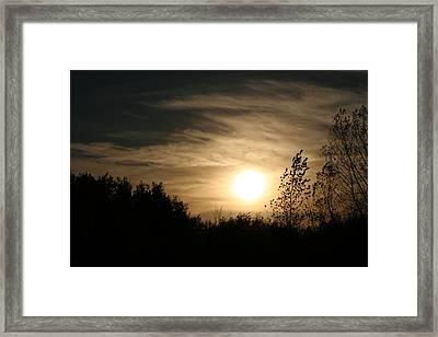 Dark Sunset Framed Print