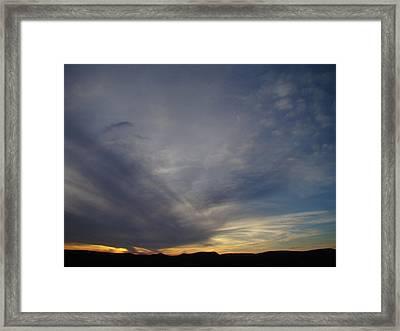 Dark Sunset Four Framed Print by Ana Villaronga
