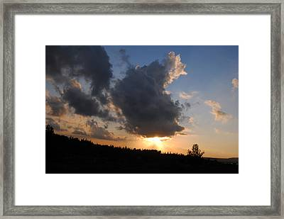 Dark Sunset Framed Print by Isam Awad
