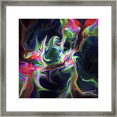 Framed Print featuring the digital art Dark To Light by Deborah Benoit