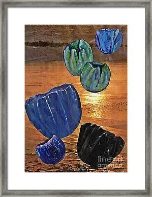 Dark Tulip Sunset Framed Print by Sarah Loft