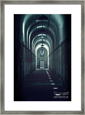 Dark Tunnels Framed Print by Evelina Kremsdorf
