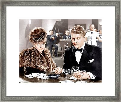Dark Victory, From Left Bette Davis Framed Print by Everett
