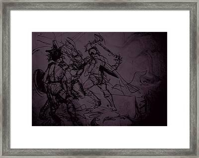 Dark Warriors Framed Print