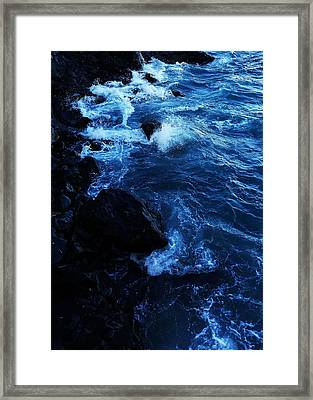 Framed Print featuring the digital art Dark Water by Julian Perry