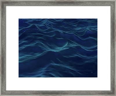 Dark Waves Framed Print by Menega Sabidussi