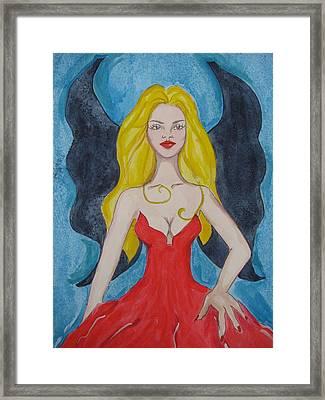 Dark Wings II Framed Print by Lindie Racz