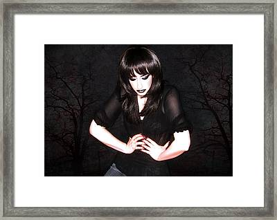 Dark Winter - Self Portrait Framed Print by Jaeda DeWalt