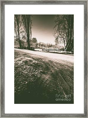 Dark Woods Way Framed Print by Jorgo Photography - Wall Art Gallery