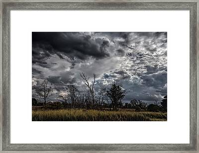Darkened Skies Framed Print