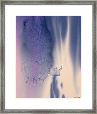Darkness Framed Print by Alison Nicholls
