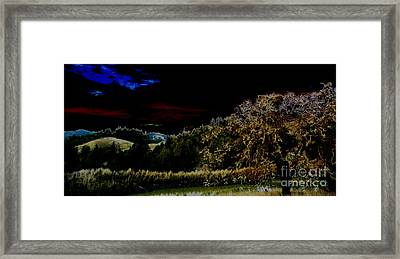 Darkness At The Edge Of Dawn Framed Print by JoAnn SkyWatcher