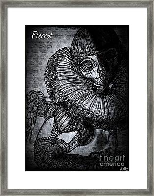 Darkness Clown Framed Print