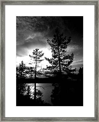 Darkness Crawls Framed Print by Leah Moore